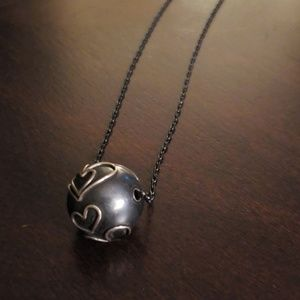 Hollow bead heart pendant